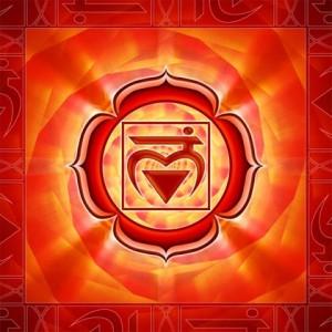Chakra 1, das Wurzelchakra oder Basischakra, für Sicherheit und Geborgenheit