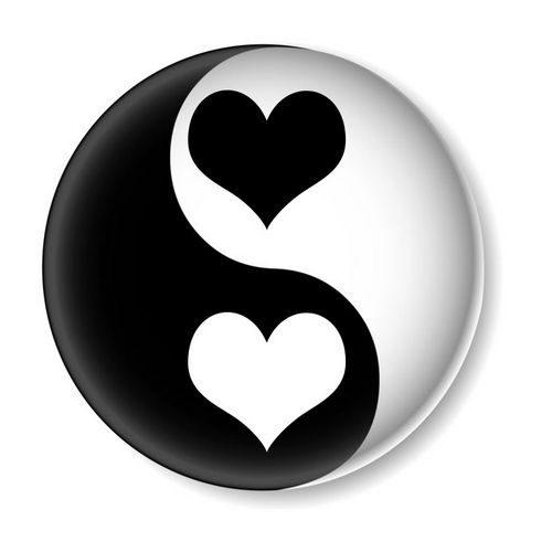 Yin Yang Liebe, um bessere Erfahrungen zu machen mit der Dualität